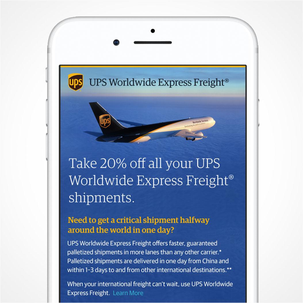 UPS WWEF Digital Campaign
